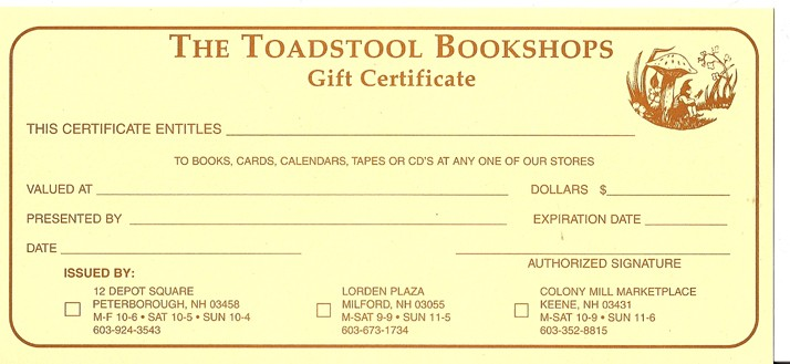 Bookstore Gift Certificate Sample_02